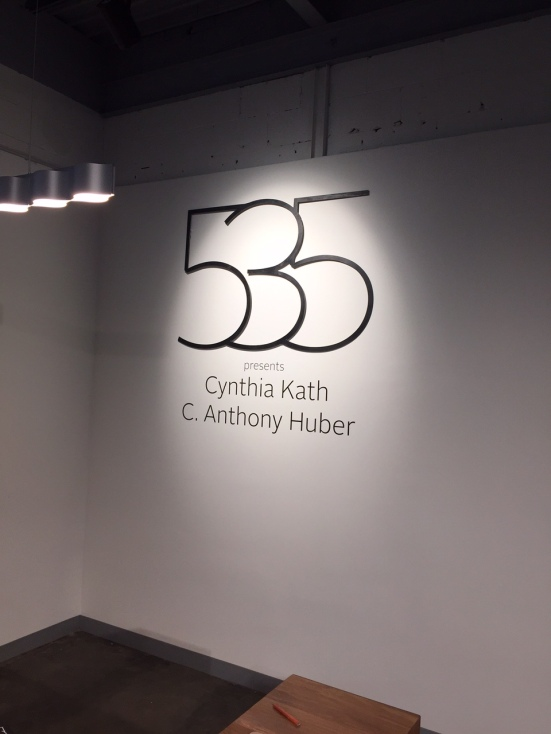 Our first exhibition. Thank you to Cynthia Kath & C. Anthony Huber for showing their works.